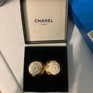 Chanel flower earrings camellia